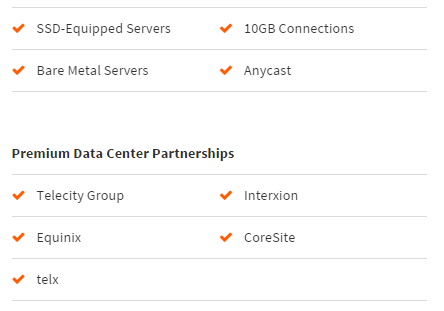 SSD-Equipped Servers and Premium Data Center Partnerships